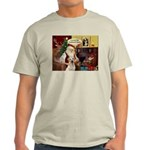 Santa's Therapy Dog (Lab-Y) Light T-Shirt