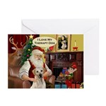 Santa's Therapy Dog (Lab-Y) Greeting Cards (Pk of