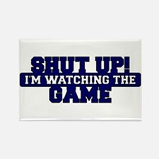 Shut Up! I'm watching the game (Navy) Rectangle Ma