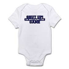 Shut Up! I'm watching the game (Navy) Infant Bodys