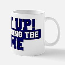 Shut Up! I'm watching the game (Navy) Mug