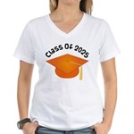 Class of 2025 (Orange) Women's V-Neck T-Shirt