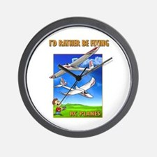 Sky Surfer Rather Be Flying Wall Clock