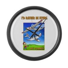 Sky Surfer Rather Be Flying Large Wall Clock
