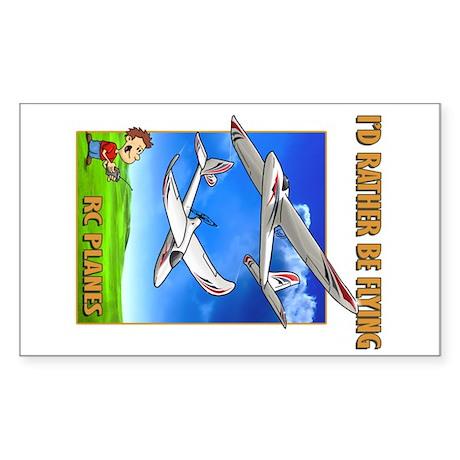Sky Surfer Rather Be Flying Sticker (Rectangle)