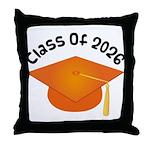 Class of 2026 (Orange) Throw Pillow
