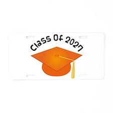 Class of 2027 (Orange) Aluminum License Plate