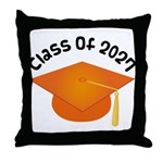 Class of 2027 (Orange) Throw Pillow