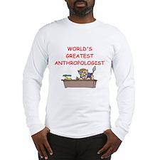world's greatest anthropolois Long Sleeve T-Shirt