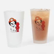 Dalmation Fire Dog Drinking Glass