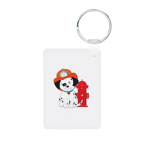 Dalmation Fire Dog Aluminum Photo Keychain