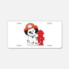 Dalmation Fire Dog Aluminum License Plate