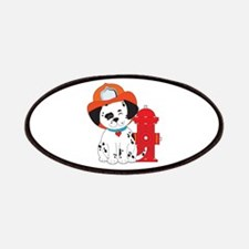 Dalmation Fire Dog Patches