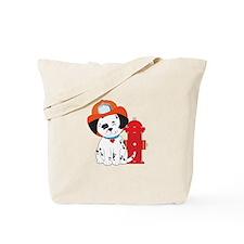 Dalmation Fire Dog Tote Bag
