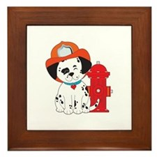Dalmation Fire Dog Framed Tile