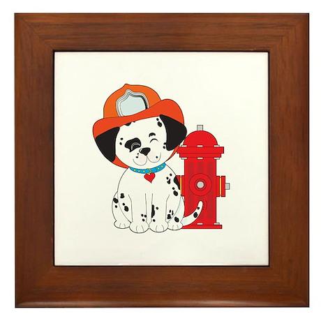 Dalmation Fire Dog Framed Tile