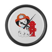 Dalmation Fire Dog Large Wall Clock