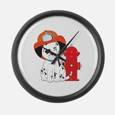 Dalmation Fire Dog Large Wall Clock