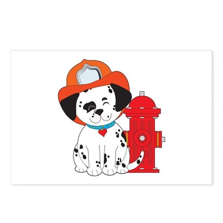Dalmation Fire Dog Postcards (Package of 8)