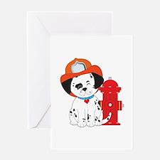 Dalmation Fire Dog Greeting Card