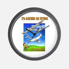 Bixler Rather Be Flying Wall Clock