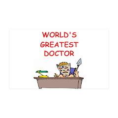 world's greatest doctor 38.5 x 24.5 Wall Peel