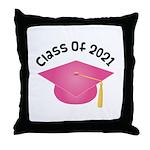 Class of 2021 (Pink) Throw Pillow