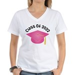 Class of 2022 (Pink) Women's V-Neck T-Shirt