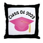 Class of 2023 (Pink) Throw Pillow