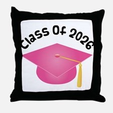Class of 2026 (Pink) Throw Pillow