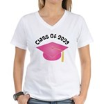 Class of 2029 (Pink) Women's V-Neck T-Shirt