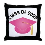 Class of 2029 (Pink) Throw Pillow