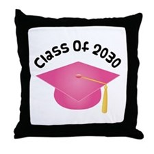 Class of 2030 (Pink) Throw Pillow