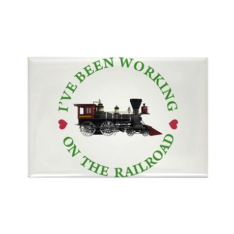 I've Been Working on the Railroad Rectangle Magnet
