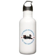 I've Been Working On T Water Bottle