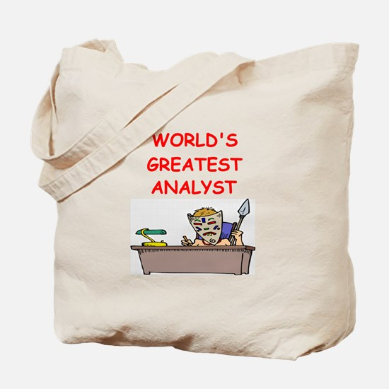analyst Tote Bag