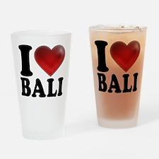 I Heart Bali Drinking Glass