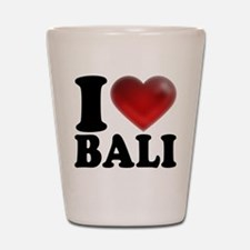 I Heart Bali Shot Glass