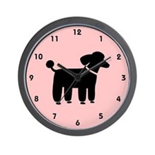 Black Poodle Wall Clock