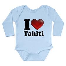 I Heart Tahiti Long Sleeve Infant Bodysuit