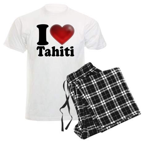 I Heart Tahiti Men's Light Pajamas