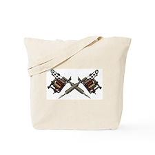 Twin Tattoo Needles Tote Bag