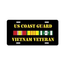 Coast Guard Vietnam Vet Aluminum License Plate