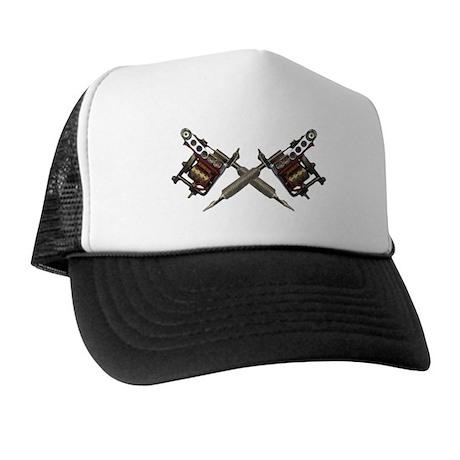 Twin Tattoo Needles Trucker Hat