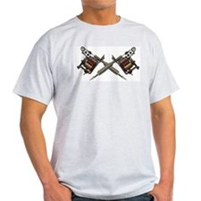 Twin Tattoo Needles Ash Grey T-Shirt