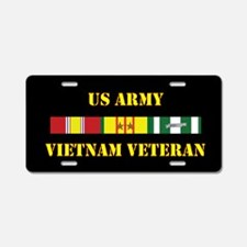 Army Vietnam Vet 2 Star Aluminum License Plate