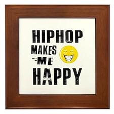 Cool Hip Hop designs Framed Tile