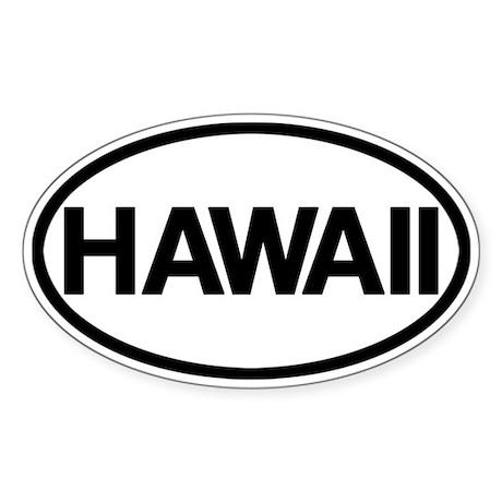 Hawaii Sticker (Oval)