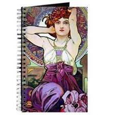 Mucha Amethyst Journal