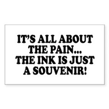 It's All About the Pain V1 Rectangle Decal
